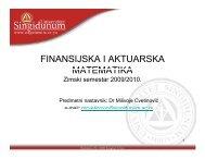 FAM-Lekcija 1.pdf - Univerzitet Singidunum