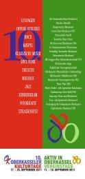 Gesamtprogramm (PDF) - Oberkasseler Kulturtage