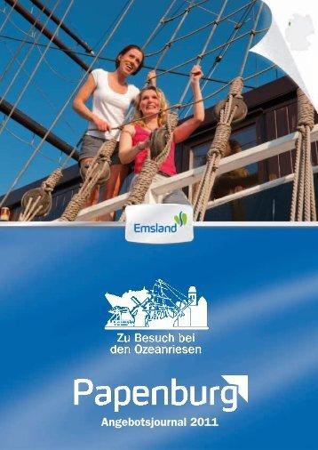 Angebotsjournal 2011 - Papenburg Tourismus