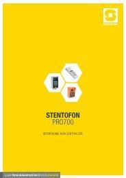 Catalogue Pro700 STENTOFON 2012 - Zenitel