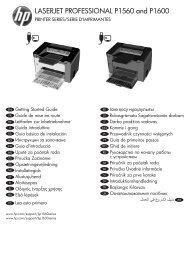 HP LaserJet P1560 and P1600 Printer Series ... - Centrum Druku