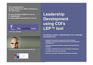 LEP™ diagnostic tool - The Coaching Room
