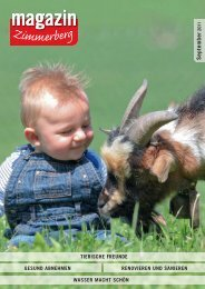 Ausgabe September 2011 - Zimmerberg-Magazin