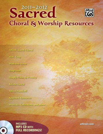 Sacred Choral & Worship Resources - Alfred Music Publishing