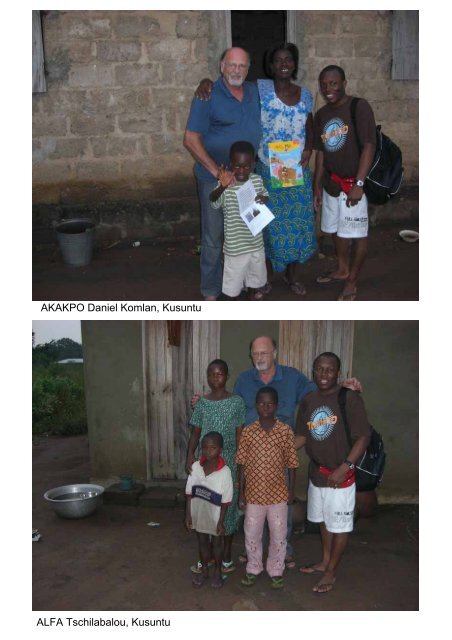 Besuch bei allen Patenkindern 2008 - Togo-Kinder Zukunftschance eV