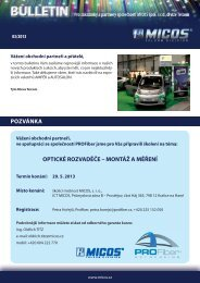 Informační bulletin - 3/2013 - MICOS, spol. s ro