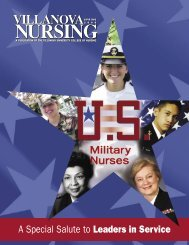A Special Salute to Leaders in Service of Villanova Nursing