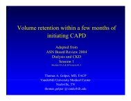 Volume retention within a few months of initiating CAPD - Medscape