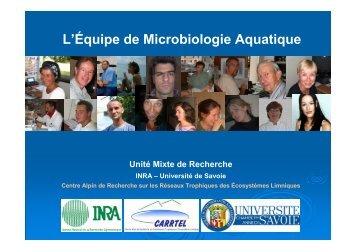 L'Équipe de Microbiologie Aquatique Unité Mixte ... - Jacquet Stephan