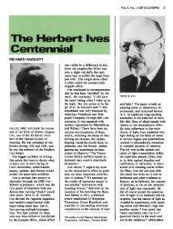 The Herbert Ives Centennial - OSA
