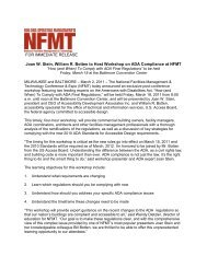 FOR IMMEDIATE RELEASE Joan W. Stein, William R ... - NFMT