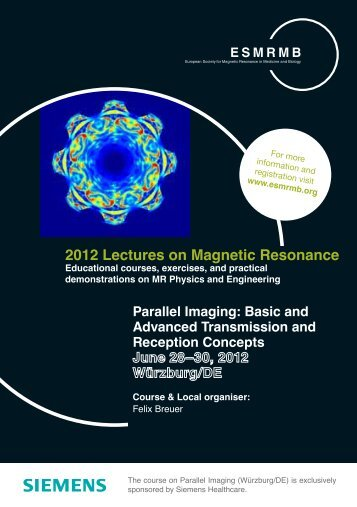 2012 Lectures on Magnetic Resonance - ESMRMB