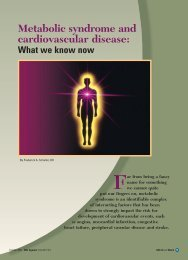 Metabolic syndrome and cardiovascular disease: What we ... - CECity