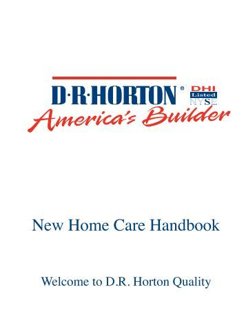 New Home Care Handbook - DR Horton