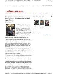 Chronicle Herald Freelancing - Christina Copp