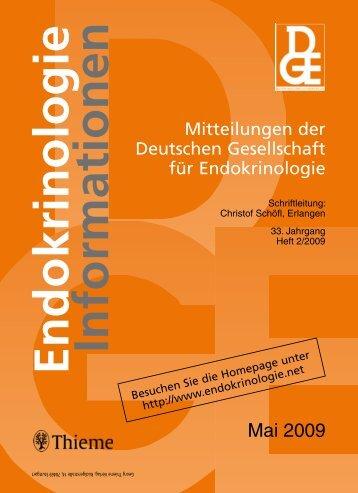 Mai 2009 - Deutsche Gesellschaft für Endokrinologie