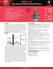 Series U1-45 Heat-Actuated Safety Shut-off Valve - Protectoseal