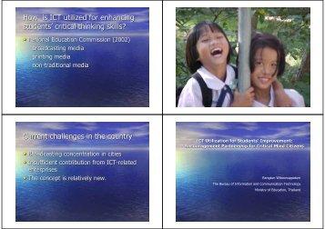 ICT Utilization for Students' Improvement - UNESCO Bangkok