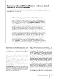 Osseointegration and Clinical Success of Zirconia Dental Implants ...