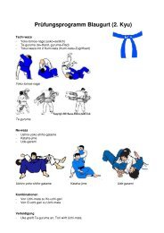 Prüfungsprogramm Blaugurt (2. Kyu)