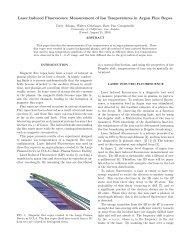 Laser Induced Fluorescence Measurement of Ion ... - REU - UCLA
