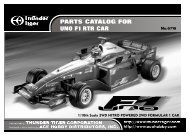 PARTS CATALOG FOR UNO F1 RTR CAR No.6716 - Powertoys