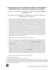 Aplicações isoladas ou associadas de diuron, oxyfluorfen e ...