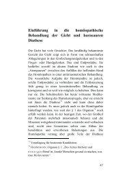 Einführung in die homöopathische Behandlung der ... - Buchhandel.de
