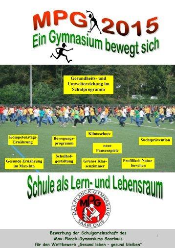 Fit statt Fett - MPG Max Planck Gymnasium