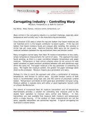 Corrugated Industry Warp Control Paper - Process Sensors Corp.