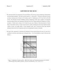 Lifetime of the Muon - Caltech