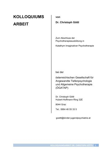 KOLLOQUIUMS ARBEIT - kinder-jugendpsychiatrie.at
