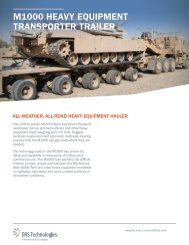 m1000 heavy equipment transporter traiLer - DRS Technologies