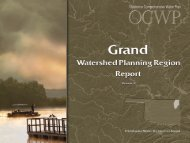Grand Watershed Planning Region Report - Water Resources Board ...