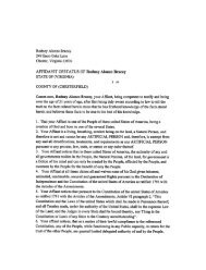 AFFIDAVIT OF STATUS OF Rodney Alonzo Bracey - National ...