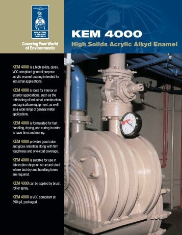 Kem 4000 High Solids Acrylic Alkyd Enamel Brochure - Protective ...