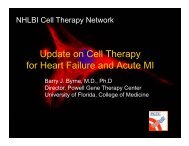 Update on Cell Therapy for Heart Failure and Acute MI - Sha ...