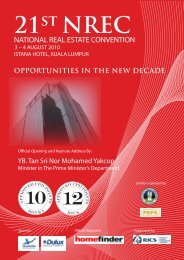 21st NREC NATIONAL REAL ESTATE CONVENTION - RICS Asia