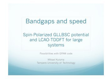 Spin-Polarized GLLB-SC potential and efficient real time LCAO ...