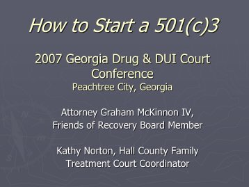 How to Start a 501(c) - Administrative Office of the Courts