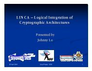 LINCA – Logical Integration of Cryptographic Architectures