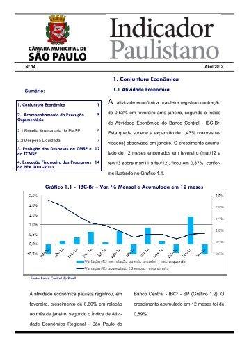 BOLETIM 34 - abril 2013 - Governo do Estado de São Paulo