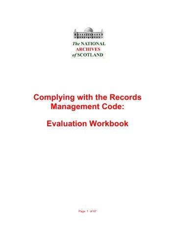 Complying with the Records Management Code - National Archives ...