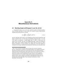 Appendix A: Miscellaneous Derivations - DESCANSO