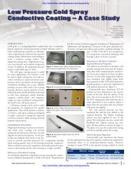 Low Pressure Cold Spray Conductive Coating - Alion Science and ...