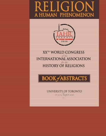 BOOK of ABSTRACTS XXTh WORld COngReSS InTeRnATIOnAl ...