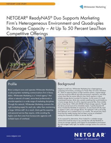 Case_Study_Whitewater_Dual:Middle Pages.qxd - Netgear