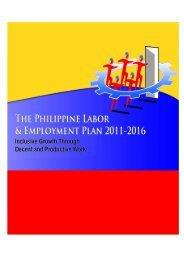 The Philippine Labor & Employment Plan 2011 - National ...
