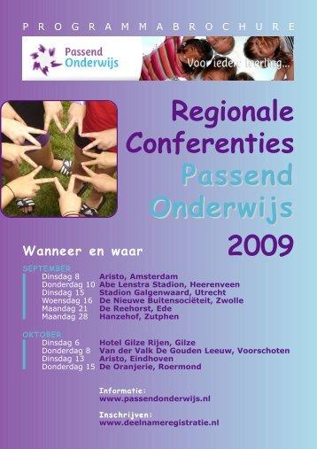 Regionale Conferenties Passend Onderwijs 2009