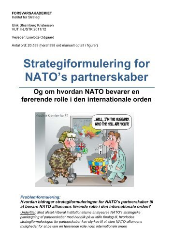 Strategiformulering for NATO's partnerskaber - Forsvarsakademiet